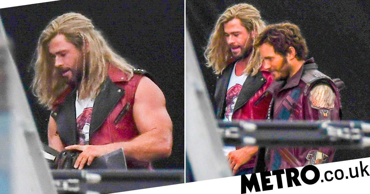 Chris Hemsworth, Pratt Spotted in Hero Costumes