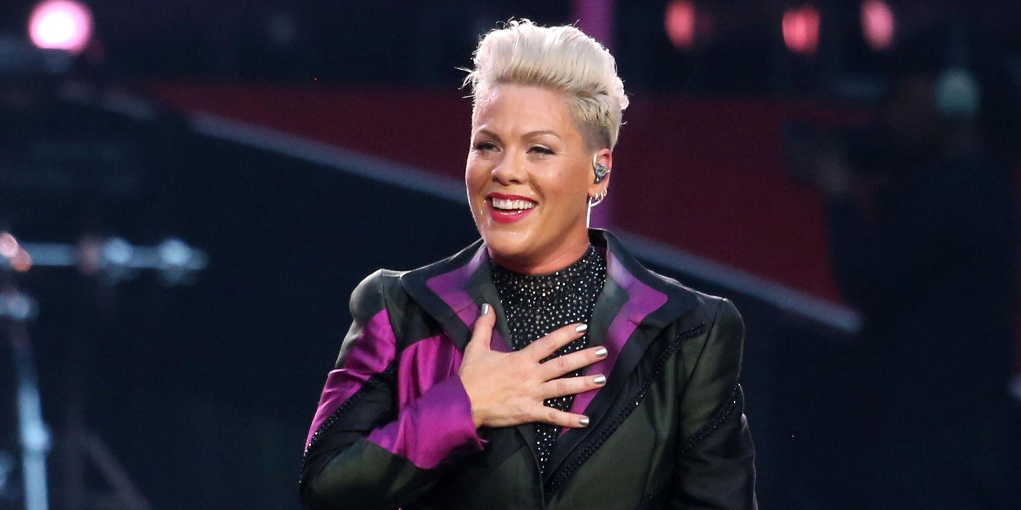 Pink Introduces New Puppy With Adorable Family Photo