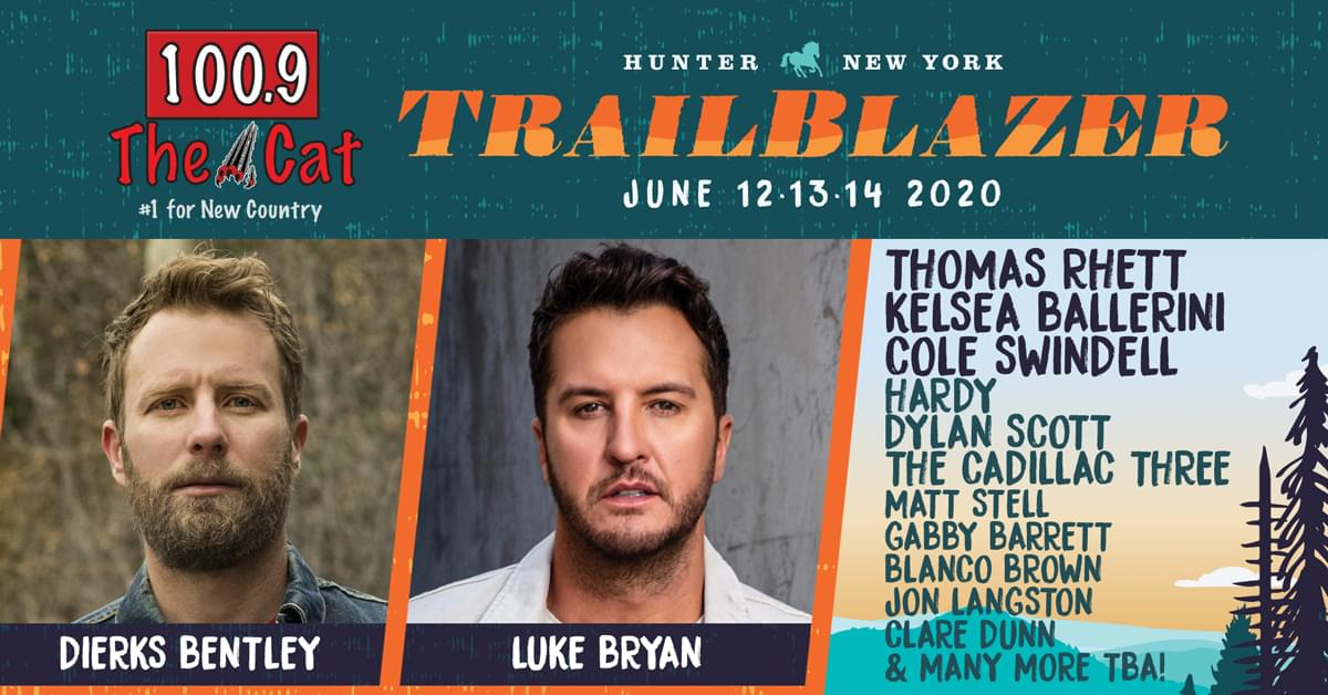 Dierks Bentley Tour 2020.Trailblazer Country Music And Camping Festival 100 9 The Cat