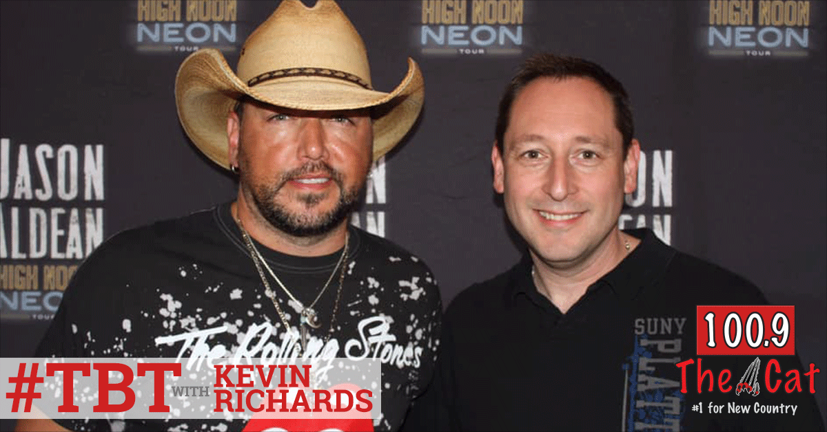 Jason Aldean in 2013 with Kevin Richards
