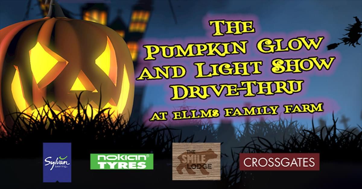 The Pumpkin Glow and Light Show Drive-Thru at Ellms Family Farm