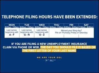 Department of Labor extends hours