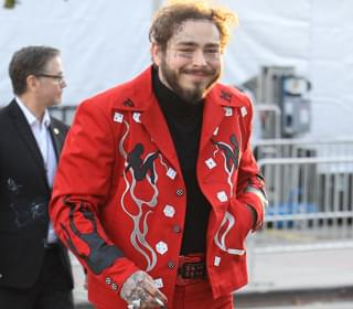 Post Malone Gets Tattoo At Dentist's Office