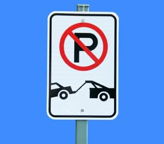 Parking restrictions in Albany for film production