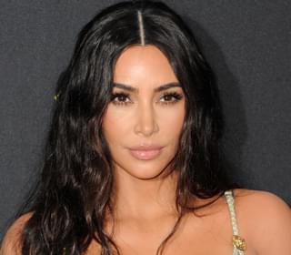 Kim Kardashian Makes Sure You Can See Her Wedding Band-Free Left Hand