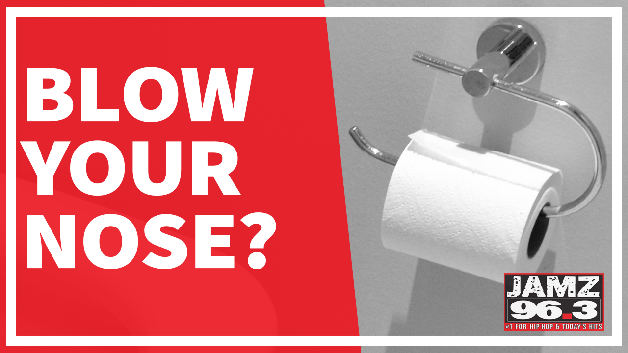 Is it gross to blow your nose using toilet paper?