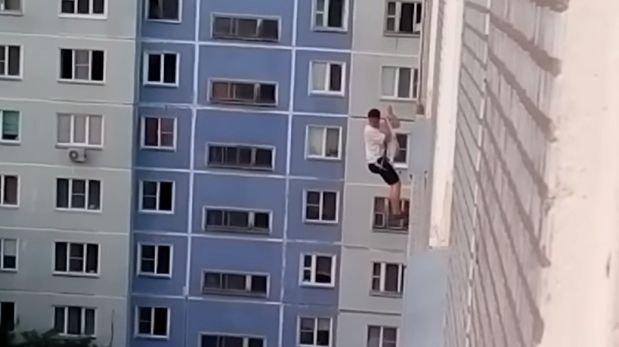 YouTube: 'Romeo ruso' bajó del techo y no encontró a su amada