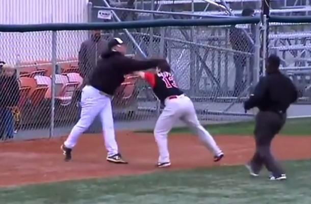 Gran pelea entre Managers en un partido de beisbol