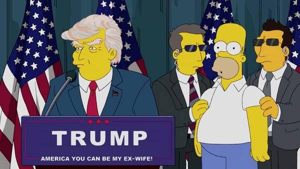 Los Simpson se burlan de Donald Trump