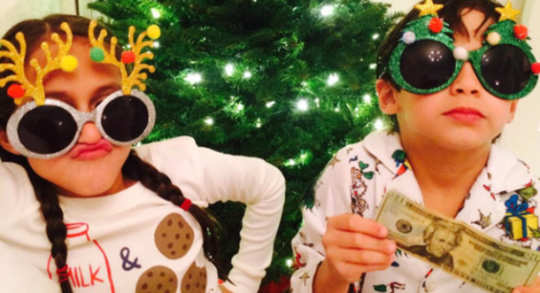 ¡Los hijos de JLo están ansiosos por tener su Navidad!