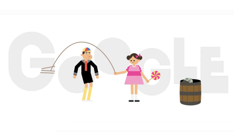 Google homenajea al Chavo del 8 con un Doodle que parece sacado de la vecindad!!!