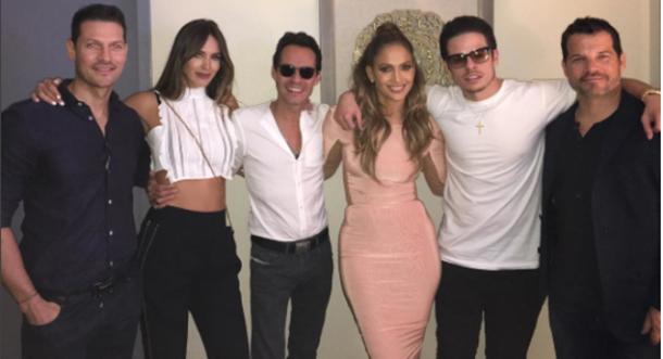 Marc Anthony fue a ver el show de J.Lo en Las Vegas
