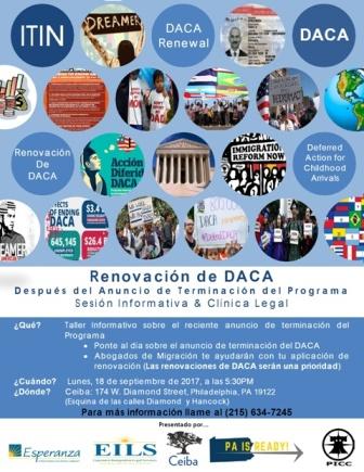 Renovación de DACA después del Anuncio de Recisión del Programa