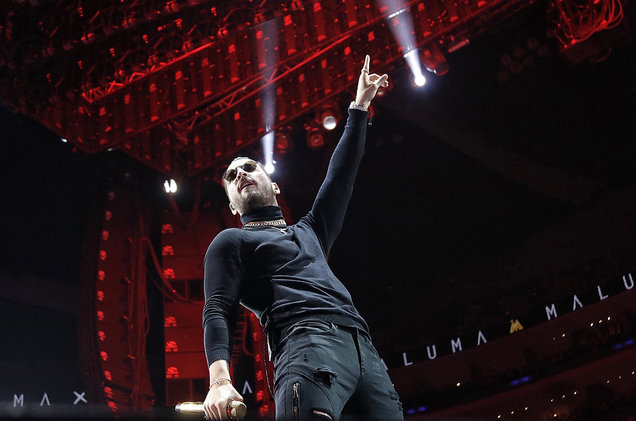 Maluma Gets Emotional During His Last Concert of The Year