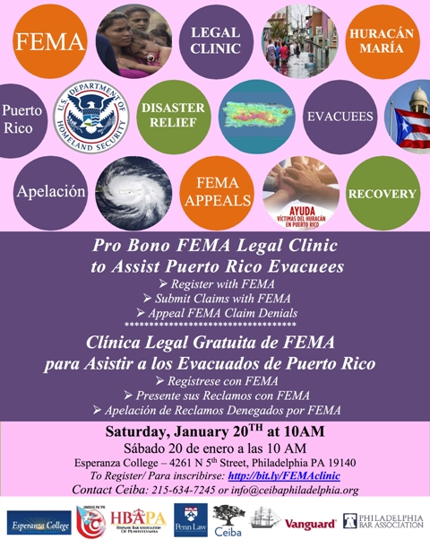 Legal Clinic to Help PR Evacuees Secure Disaster Relief From FEMA