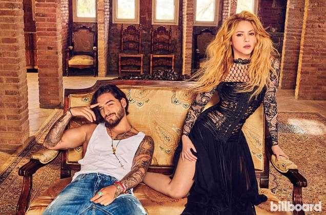 Shakira & Maluma Debut in Top 20 on Hot Latin Songs With 'Clandestino'