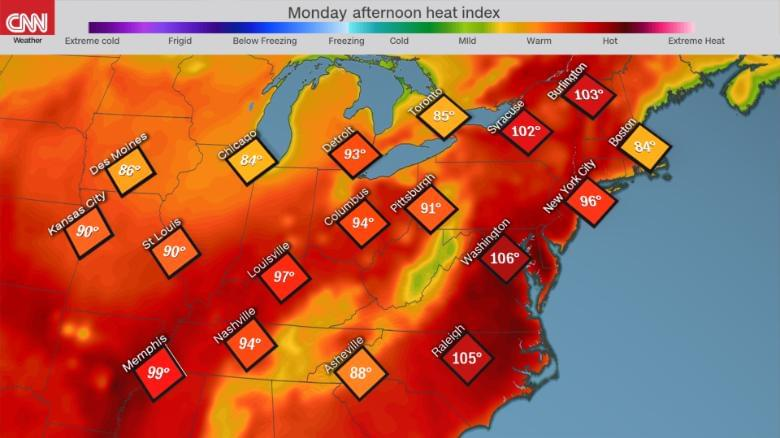 The Northeast US is sweltering under the worst heat wave of the year