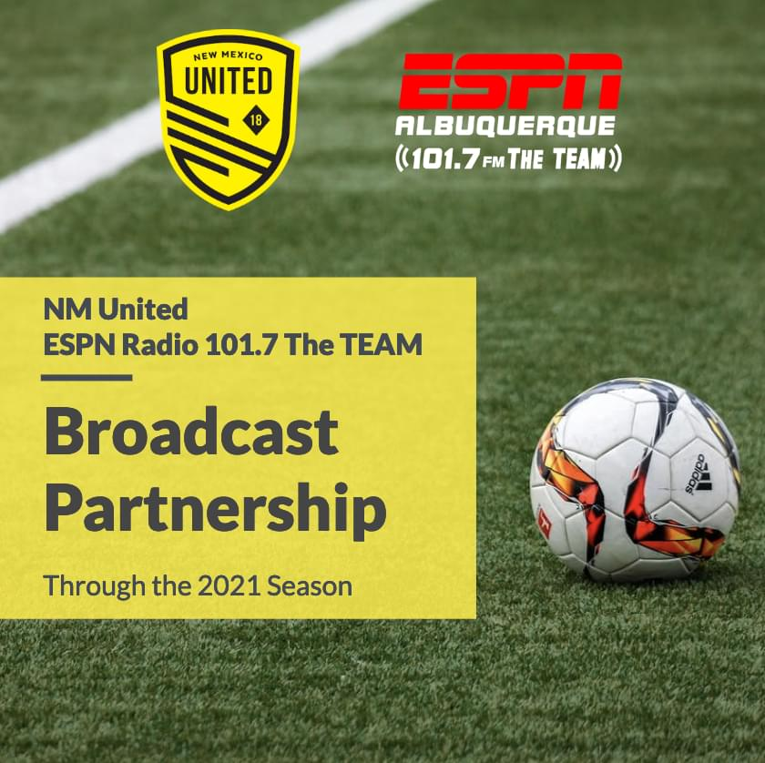 ESPN Radio 101.7 The TEAM and NM United Announce Two-Year Partnership Extension
