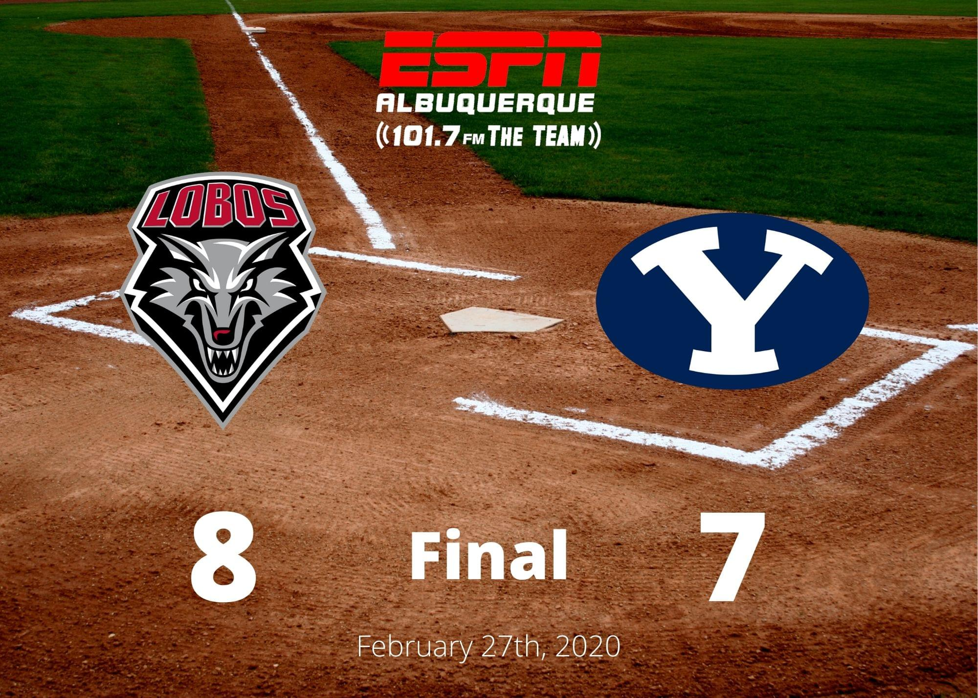 UNM Baseball: Lance Russell hits walk-off single as Lobos beat BYU 8-7