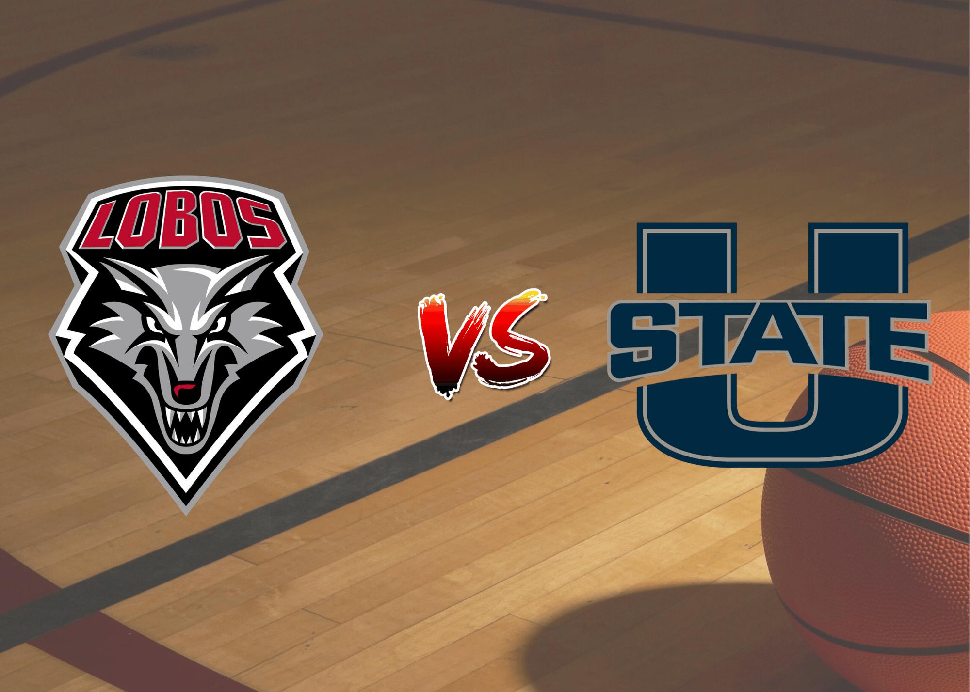 UNM Vs Utah State Basketball