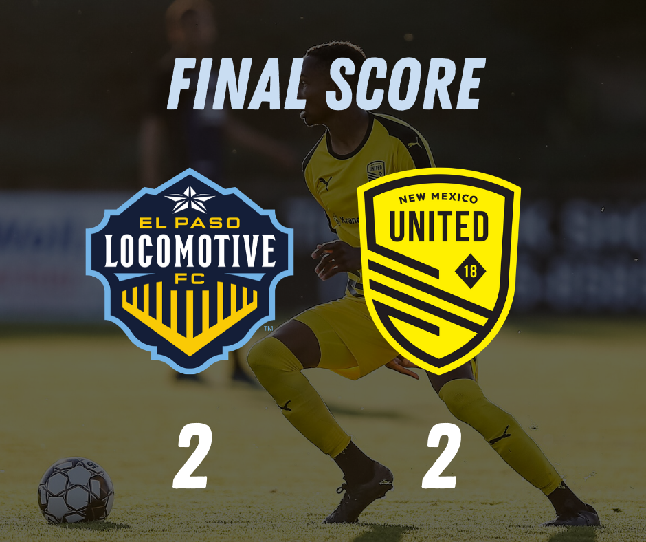 United draw 2-2 with El Paso