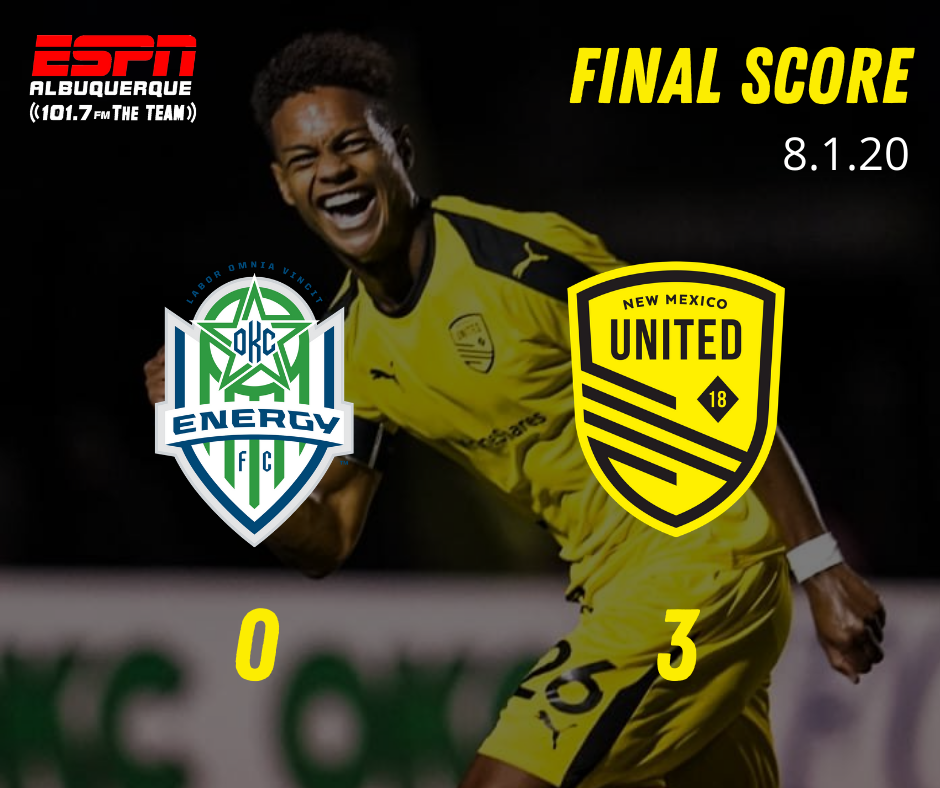 New Mexico United blank powerless OKC Energy FC 3-0