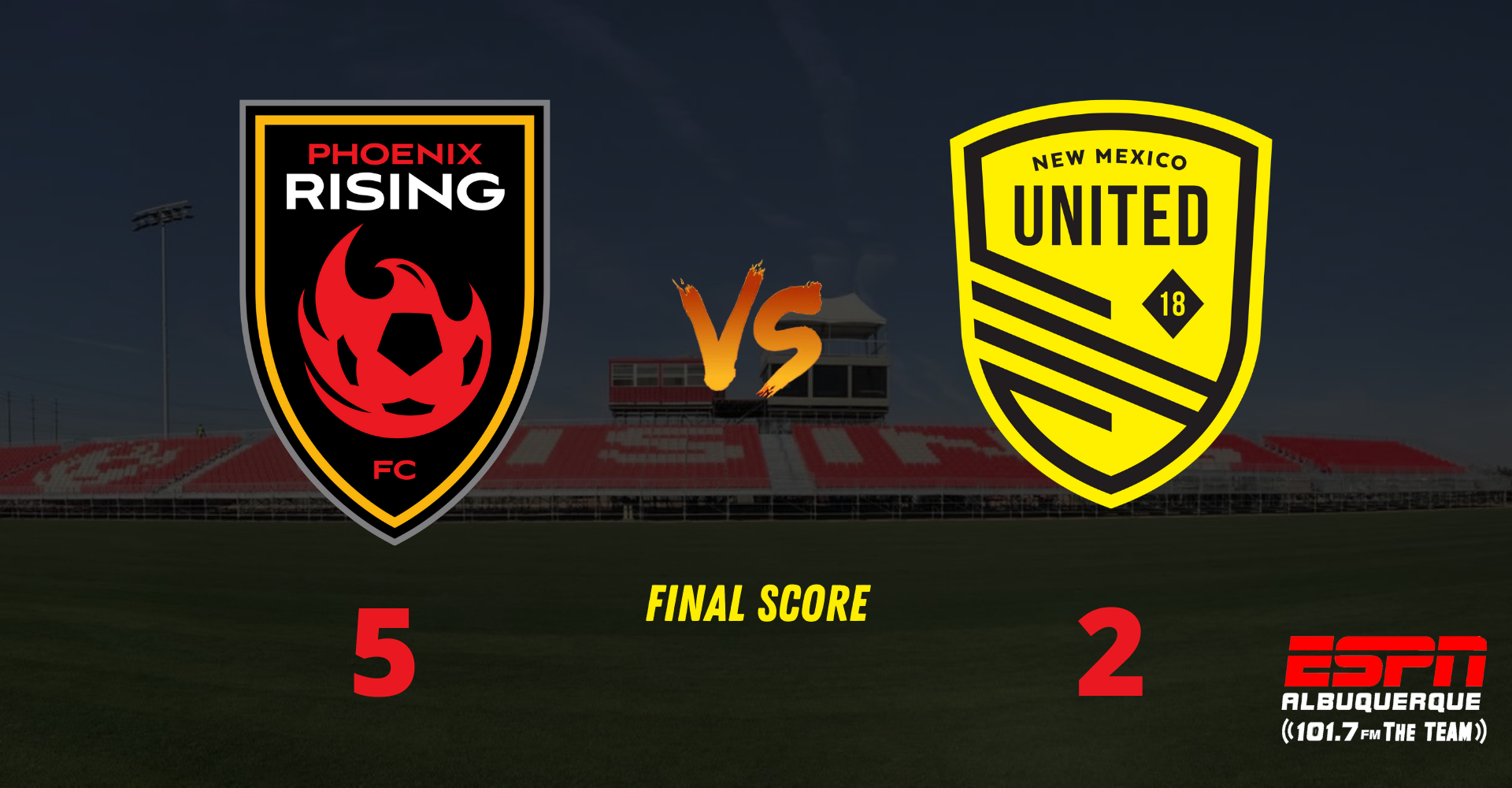 NM United drop points in Tempe as they fall to Phoenix Rising FC, 5-2