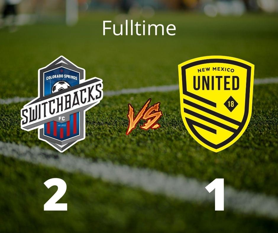 United defeated by Switchbacks FC 2-1, drop 4 points back of El Paso
