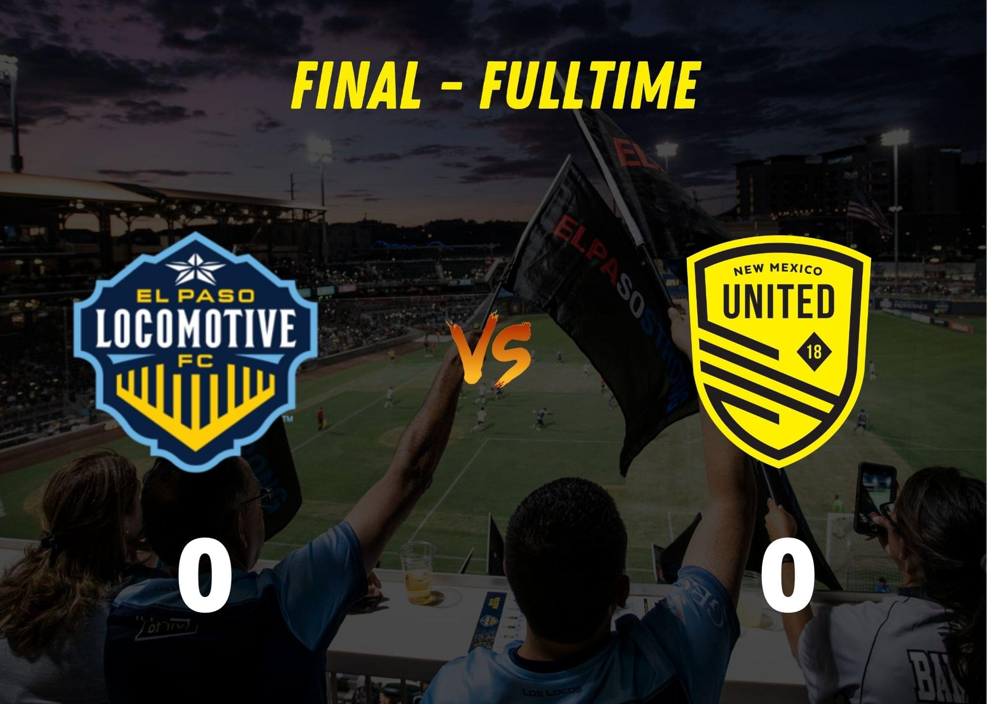 New Mexico United earn 5th clean sheet, draw with El Paso 0-0