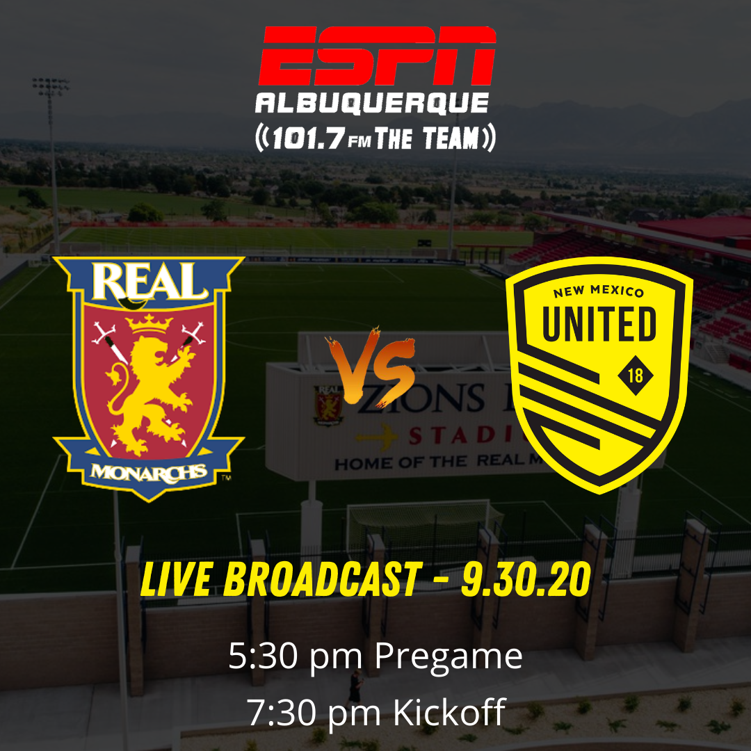 New Mexico United go for season sweep against Real Monarchs SLC
