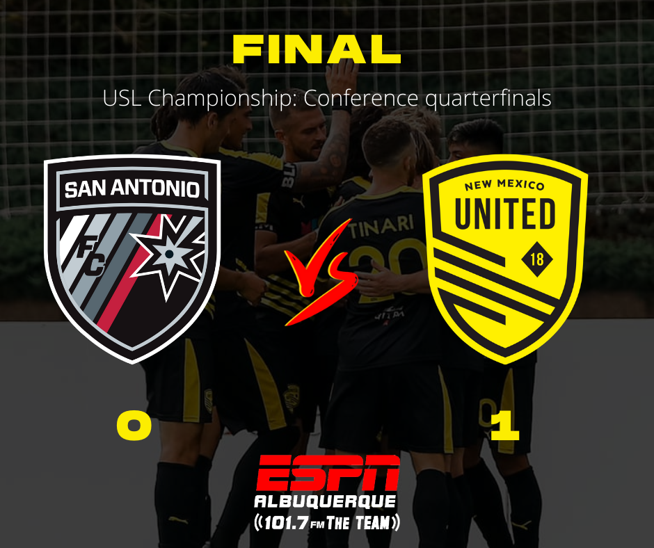 New Mexico United earn first playoff victory with 1-0 win over San Antonio