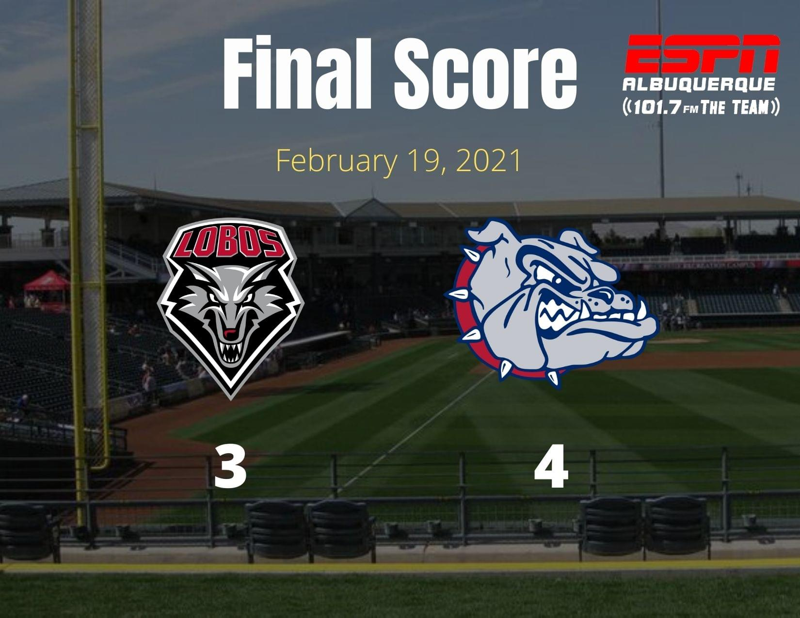 UNM Baseball: Bulldogs score two runs in the bottom of the ninth to beat Lobos 4-3