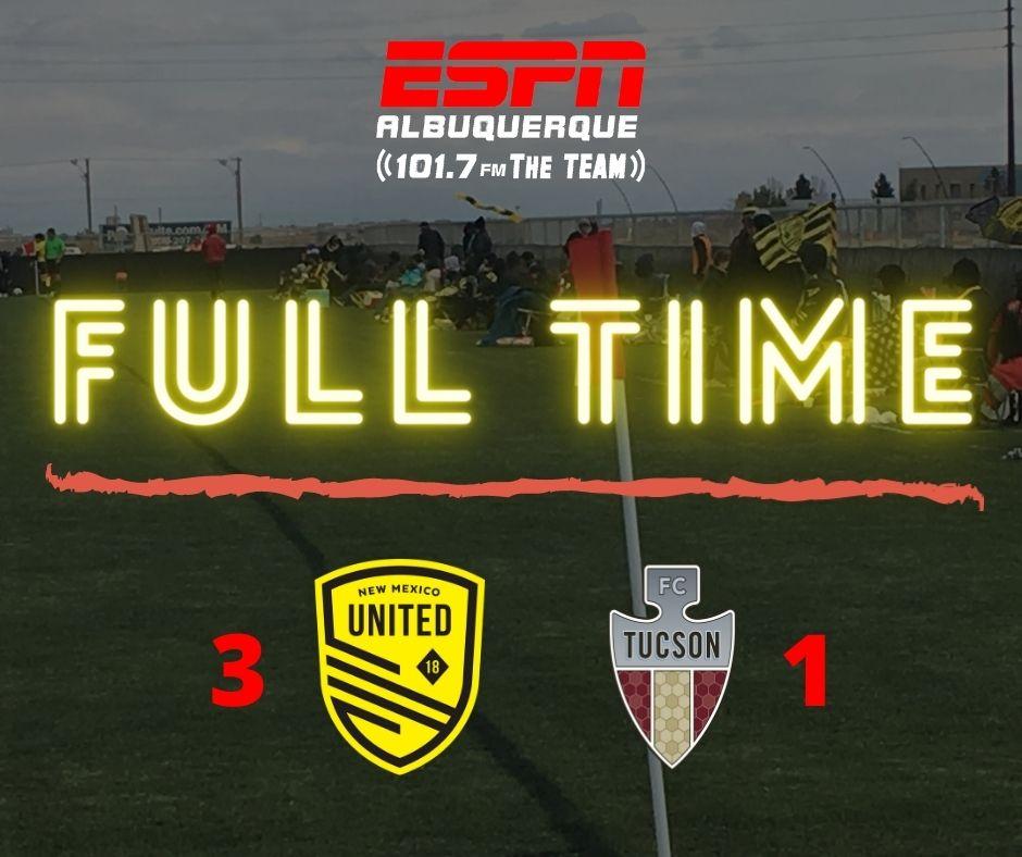 New Mexico United defeats FC Tucson 3 – 1