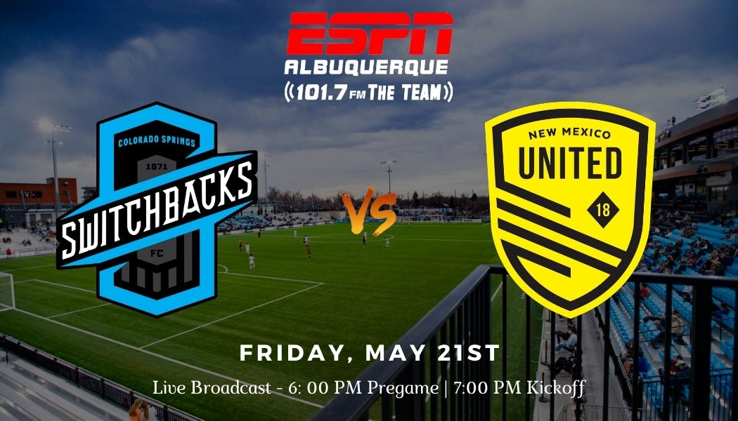 New Mexico United set to face Switchbacks at new Weidner Field