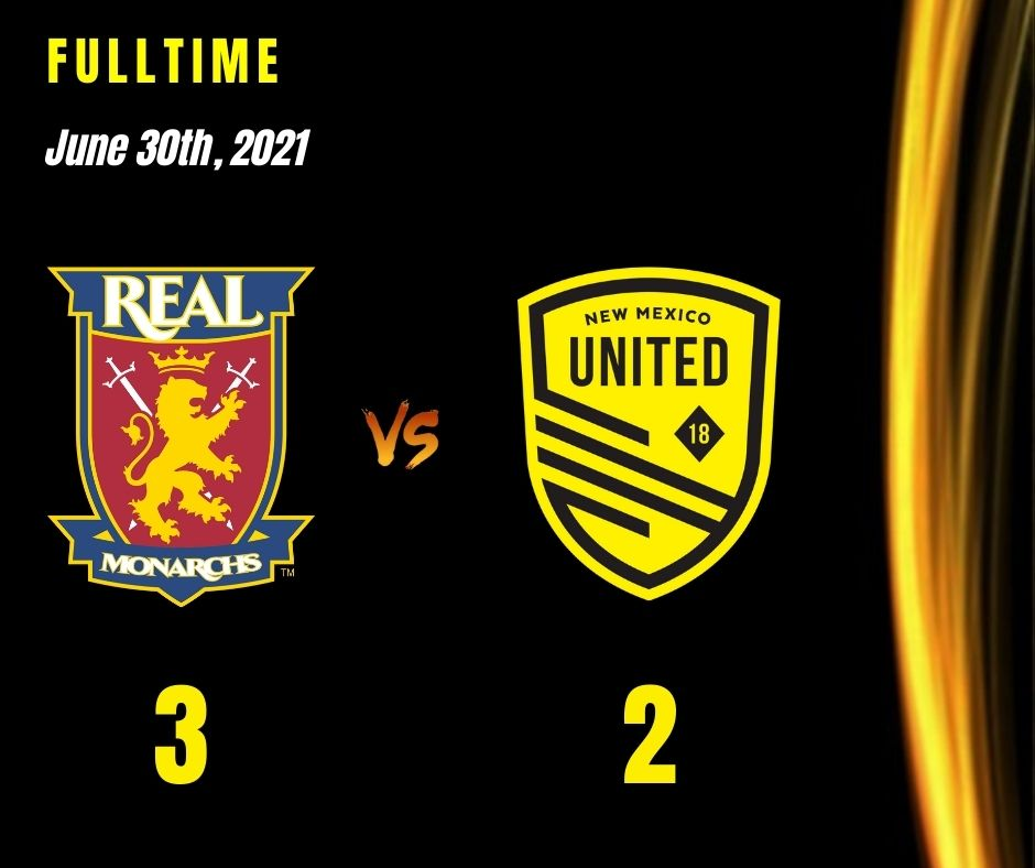 United fail to hold onto two-goal lead, fall to Real Monarchs 3-2