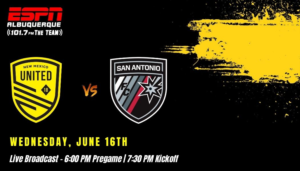 New Mexico United hosts San Antonio FC in rematch from 2020 playoffs