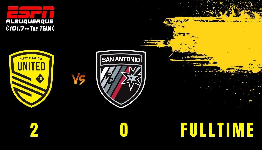 United moves into second after convincing 2-0 win over San Antonio