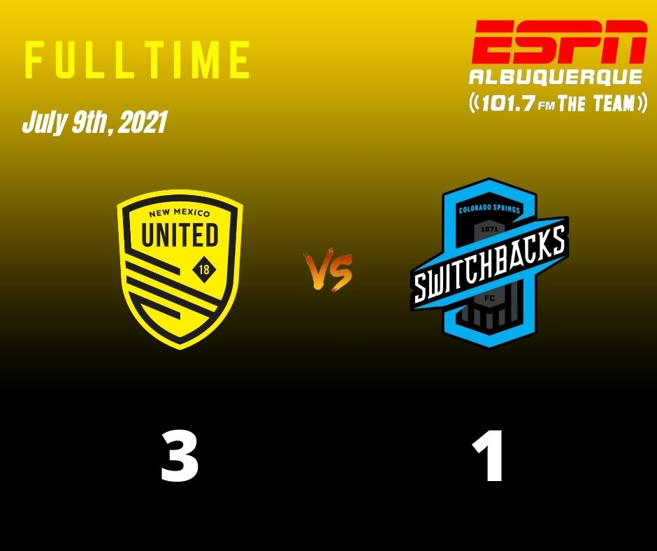 United score twice in stoppage time to defeat Switchbacks 3-1