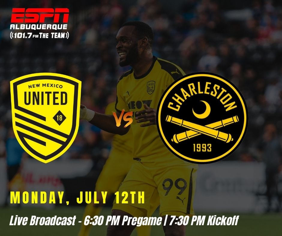 United host Charleston Battery as they look for back to back wins