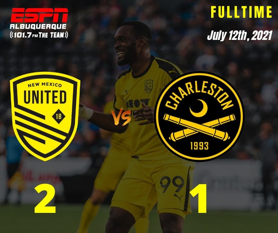 Another win for United as they defeat Charleston Battery 2-1