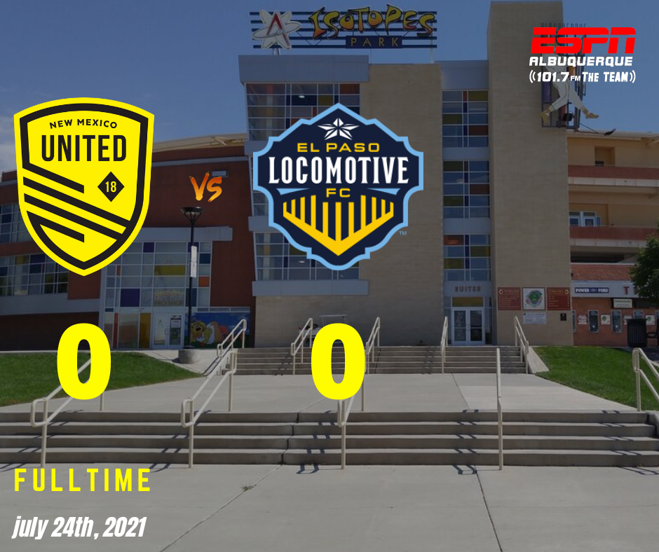 10-man United earns draw with rival El Paso Locomotive FC
