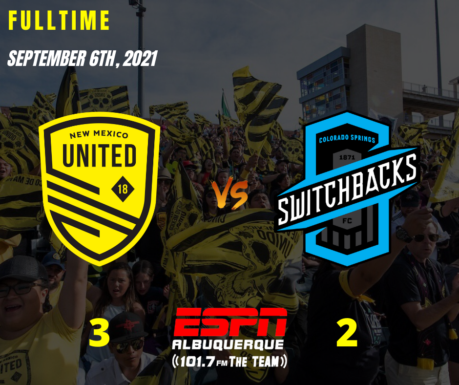 Trio of goals see United past Switchbacks; snap seven match winless streak