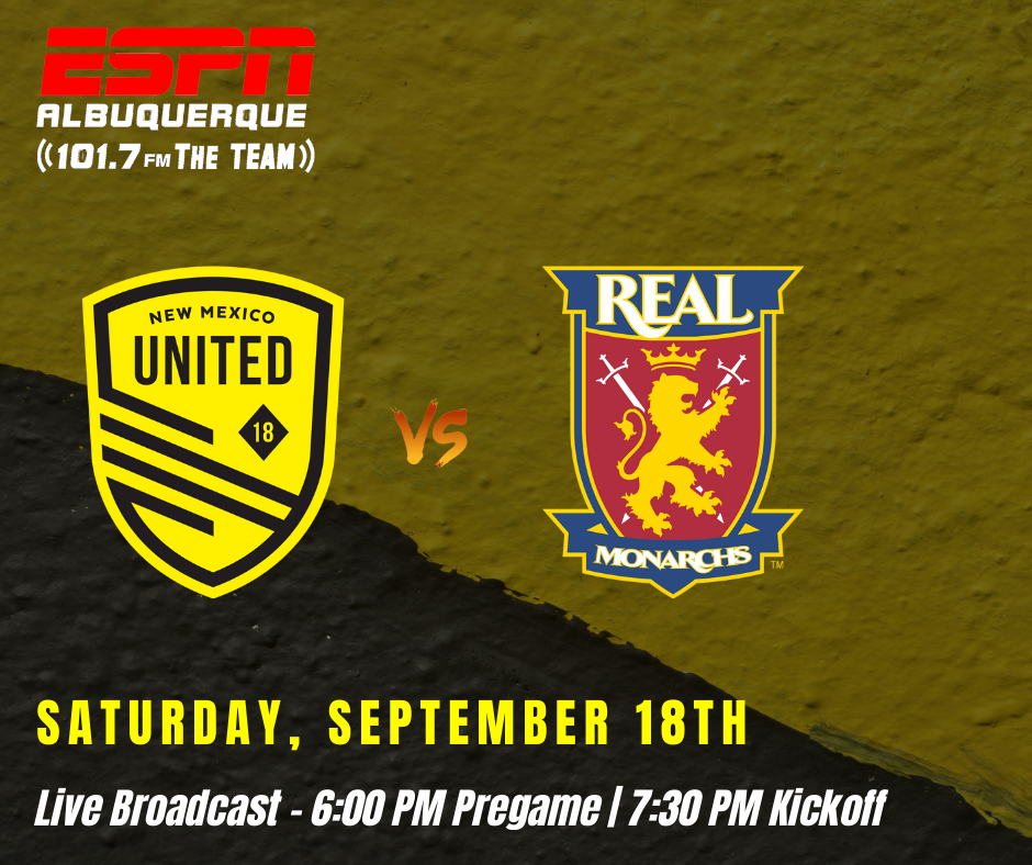 New Mexico United continue playoff push against Real Monarchs SLC