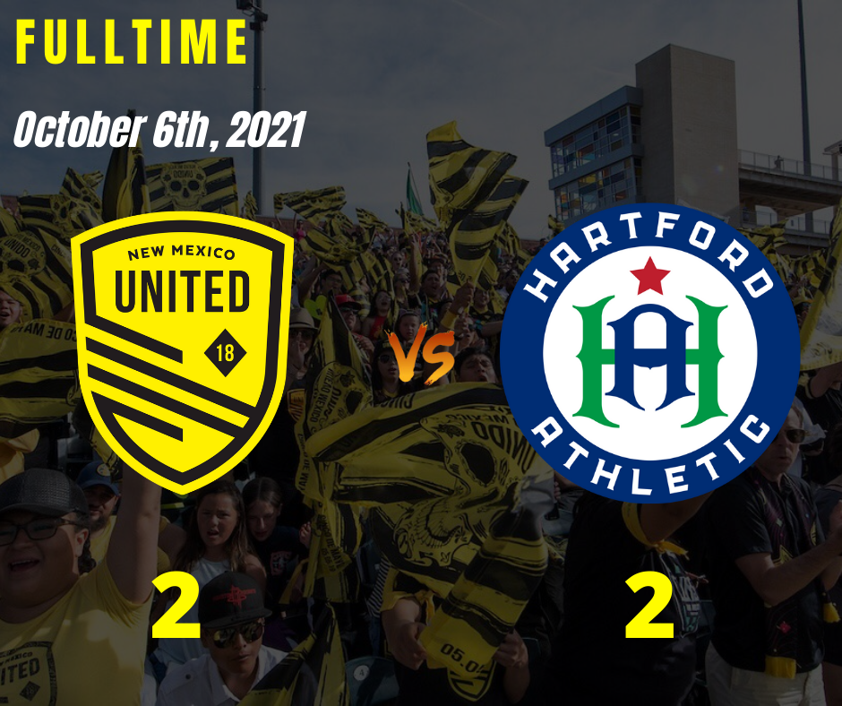 United and Hartford battle to 2-2 draw