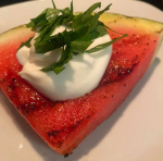 Grilled Watermelon with Yogurt Sauce