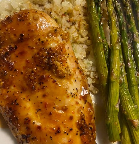 Honey Apricot Chicken and Asparagus