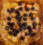 Blueberry Peach Tart with Vanilla Glaze