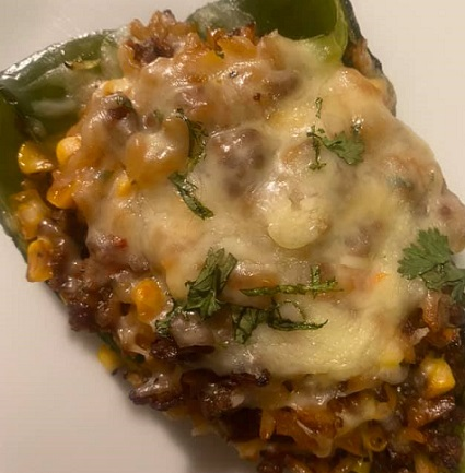 Cheesy Chorizo Stuffed Poblano Peppers