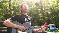 """Garden Sessions: Ben Taylor Performing """"Worlds Are Made Of Paper"""" – Radio Woodstock 100.1 – 7/6/12"""