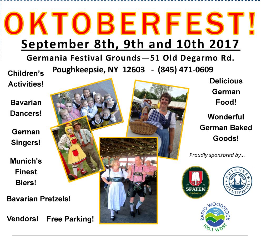 Germania of Poughkeepsie Oktoberfest! September 8-10 2017